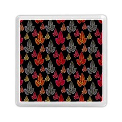 Leaves Pattern Background Memory Card Reader (square)  by Simbadda