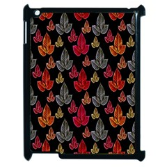 Leaves Pattern Background Apple Ipad 2 Case (black) by Simbadda