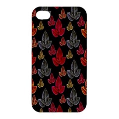 Leaves Pattern Background Apple Iphone 4/4s Premium Hardshell Case
