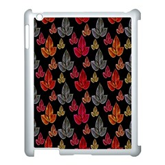 Leaves Pattern Background Apple Ipad 3/4 Case (white) by Simbadda