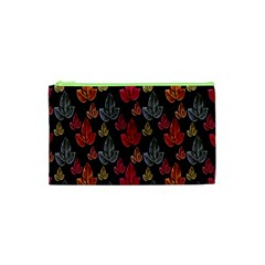 Leaves Pattern Background Cosmetic Bag (xs) by Simbadda