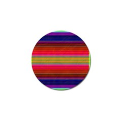 Fiestal Stripe Bright Colorful Neon Stripes Background Golf Ball Marker by Simbadda