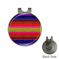 Fiestal Stripe Bright Colorful Neon Stripes Background Hat Clips With Golf Markers by Simbadda