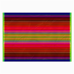 Fiestal Stripe Bright Colorful Neon Stripes Background Large Glasses Cloth (2-side) by Simbadda