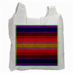 Fiestal Stripe Bright Colorful Neon Stripes Background Recycle Bag (one Side) by Simbadda