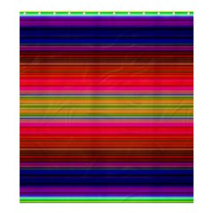 Fiestal Stripe Bright Colorful Neon Stripes Background Shower Curtain 66  X 72  (large)