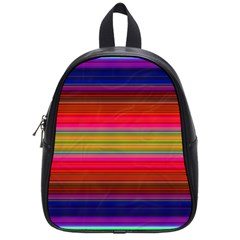 Fiestal Stripe Bright Colorful Neon Stripes Background School Bags (small)  by Simbadda