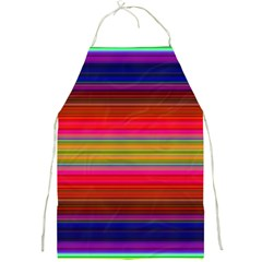 Fiestal Stripe Bright Colorful Neon Stripes Background Full Print Aprons by Simbadda
