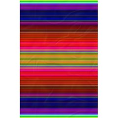 Fiestal Stripe Bright Colorful Neon Stripes Background 5 5  X 8 5  Notebooks