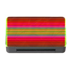 Fiestal Stripe Bright Colorful Neon Stripes Background Memory Card Reader With Cf by Simbadda
