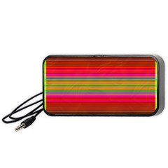 Fiestal Stripe Bright Colorful Neon Stripes Background Portable Speaker (black) by Simbadda