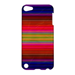 Fiestal Stripe Bright Colorful Neon Stripes Background Apple Ipod Touch 5 Hardshell Case by Simbadda