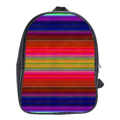 Fiestal Stripe Bright Colorful Neon Stripes Background School Bags (xl)  by Simbadda