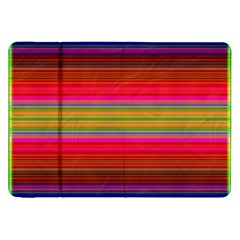 Fiestal Stripe Bright Colorful Neon Stripes Background Samsung Galaxy Tab 8 9  P7300 Flip Case by Simbadda