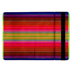 Fiestal Stripe Bright Colorful Neon Stripes Background Samsung Galaxy Tab Pro 12 2  Flip Case by Simbadda