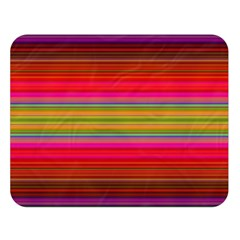 Fiestal Stripe Bright Colorful Neon Stripes Background Double Sided Flano Blanket (large)  by Simbadda
