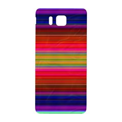 Fiestal Stripe Bright Colorful Neon Stripes Background Samsung Galaxy Alpha Hardshell Back Case by Simbadda
