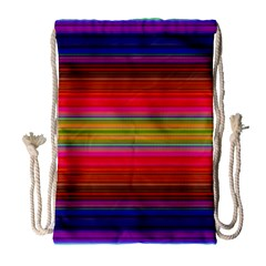 Fiestal Stripe Bright Colorful Neon Stripes Background Drawstring Bag (large) by Simbadda