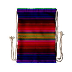 Fiestal Stripe Bright Colorful Neon Stripes Background Drawstring Bag (small) by Simbadda