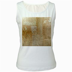 Texture Of Ceramic Tile Women s White Tank Top by Simbadda