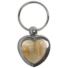 Texture Of Ceramic Tile Key Chains (heart)