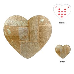 Texture Of Ceramic Tile Playing Cards (heart)  by Simbadda