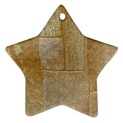 Texture Of Ceramic Tile Star Ornament (two Sides) by Simbadda