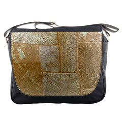 Texture Of Ceramic Tile Messenger Bags
