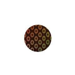Grunge Brown Flower Background Pattern 1  Mini Magnets