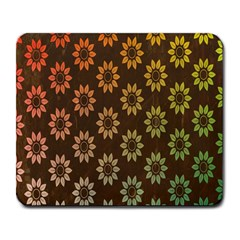 Grunge Brown Flower Background Pattern Large Mousepads