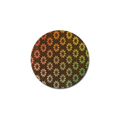 Grunge Brown Flower Background Pattern Golf Ball Marker (4 Pack) by Simbadda