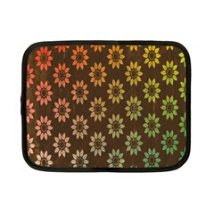 Grunge Brown Flower Background Pattern Netbook Case (small)  by Simbadda