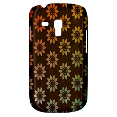 Grunge Brown Flower Background Pattern Galaxy S3 Mini by Simbadda