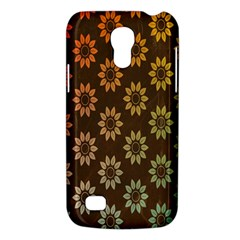 Grunge Brown Flower Background Pattern Galaxy S4 Mini by Simbadda