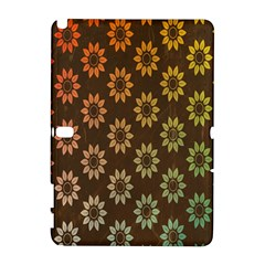 Grunge Brown Flower Background Pattern Galaxy Note 1 by Simbadda