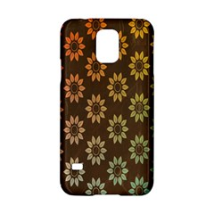 Grunge Brown Flower Background Pattern Samsung Galaxy S5 Hardshell Case  by Simbadda