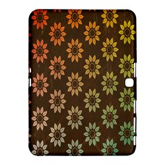 Grunge Brown Flower Background Pattern Samsung Galaxy Tab 4 (10 1 ) Hardshell Case  by Simbadda