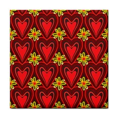 Digitally Created Seamless Love Heart Pattern Tile Tile Coasters