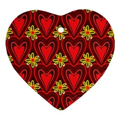 Digitally Created Seamless Love Heart Pattern Tile Ornament (heart)