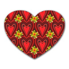 Digitally Created Seamless Love Heart Pattern Tile Heart Mousepads by Simbadda