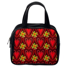 Digitally Created Seamless Love Heart Pattern Tile Classic Handbags (one Side) by Simbadda