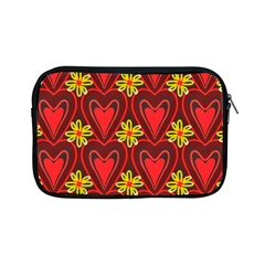 Digitally Created Seamless Love Heart Pattern Tile Apple Ipad Mini Zipper Cases by Simbadda