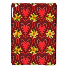 Digitally Created Seamless Love Heart Pattern Tile Ipad Air Hardshell Cases by Simbadda