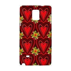 Digitally Created Seamless Love Heart Pattern Tile Samsung Galaxy Note 4 Hardshell Case by Simbadda