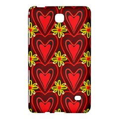 Digitally Created Seamless Love Heart Pattern Tile Samsung Galaxy Tab 4 (7 ) Hardshell Case  by Simbadda