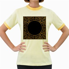 Abstract  Frame Pattern Card Women s Fitted Ringer T Shirts