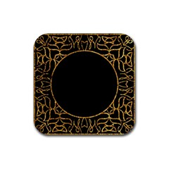Abstract  Frame Pattern Card Rubber Coaster (square)  by Simbadda