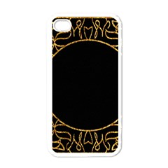 Abstract  Frame Pattern Card Apple Iphone 4 Case (white)