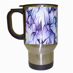 Floral Pattern Background Travel Mugs (white) by Simbadda