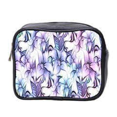 Floral Pattern Background Mini Toiletries Bag 2 Side by Simbadda